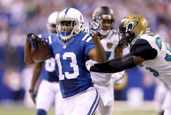 T.Y. Hilton of the Indianapolis Colts runs with
