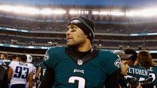 PHILADELPHIA, PA - NOVEMBER 23: Quarterback Mark Sanchez