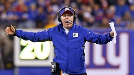 Tom Coughlin reacts during an NFL game. (Nov.