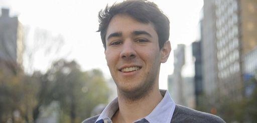 Recently named Rhodes Scholar Joe Barrett, 23, poses