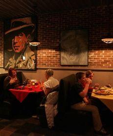 People dine at Geri's Restaurant in Long Beach
