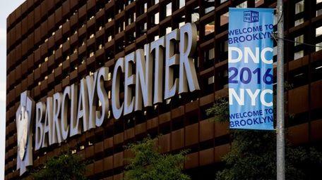 A banner seen in Brooklyn near the Barclay's