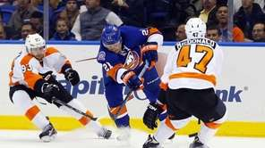 Kyle Okposo #21 of the New York Islanders