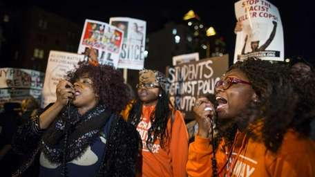 People gather at Union Square in Manhattan on