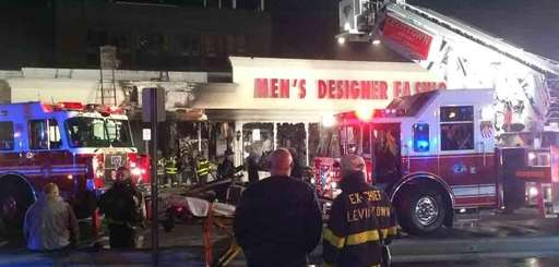 Fire wiped out a Men's Designer Fashion Outlet,