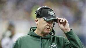 New York Jets head coach Rex Ryan is