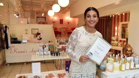 Julia Lopez-Motherway, owner of Karma's Angel, a natural