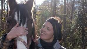 Jen Zalak with Missy, a 38-year-old Arabian rescue