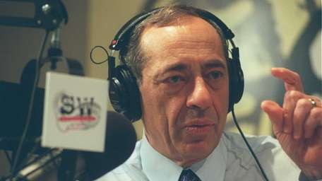 Former Gov. Mario Cuomo at his weekly syndicated