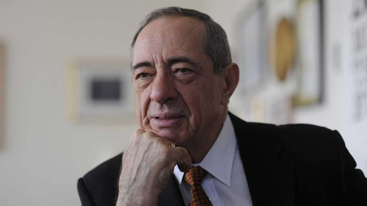 Gov. Mario Cuomo is interviewed at his office