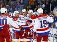 Alex Ovechkin of the Washington Capitals celebrates a