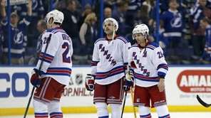 Martin St. Louis and Dan Boyle of the