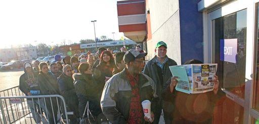 Shoppers enter Best Buy for Black Friday deals