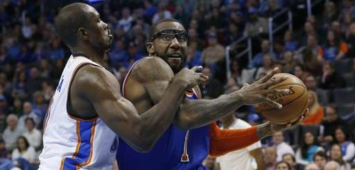 New York Knicks forward Amar'e Stoudemire, right, is