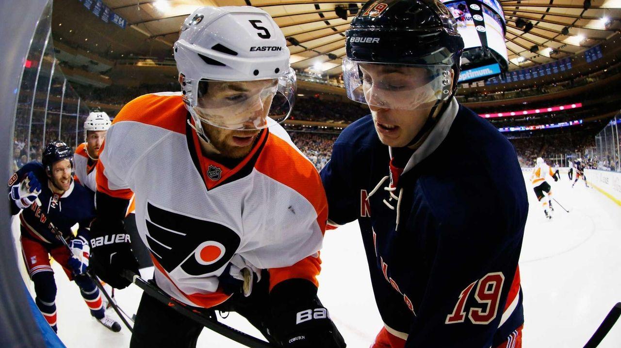 Braydon Coburn #5 of the Philadelphia Flyers and
