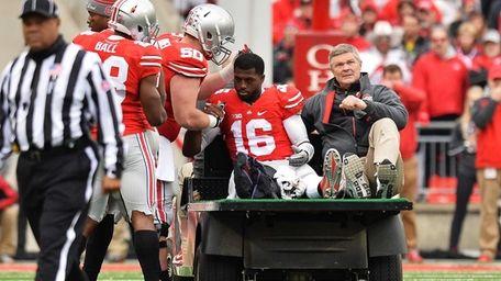 Quarterback J.T. Barrett of the Ohio State Buckeyes