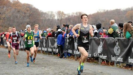 East Northport's Michael Brannigan sprinting toward the finish