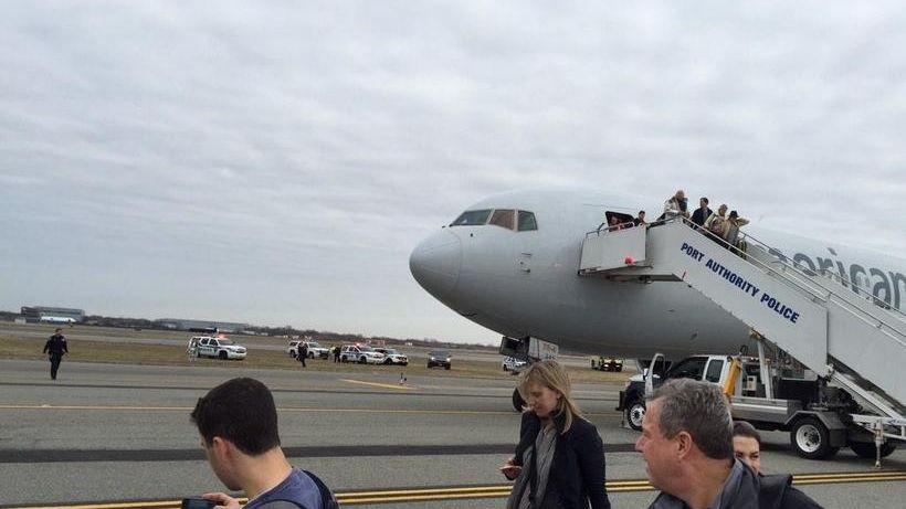 An American Airlines jet landed safely Sunday, Nov.