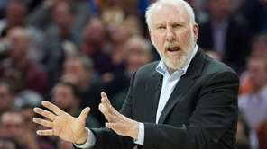 Head coach Gregg Popovich of the San Antonio