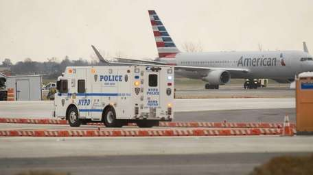 An American Airlines jet landed safely Sunday, Nov.