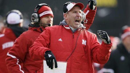 Nebraska head coach Bo Pelini reacts during the