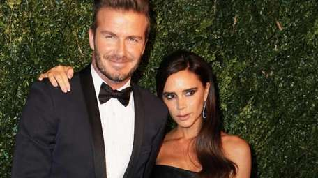 David and Victoria Beckham at the Evening Standard