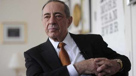 Former Gov. Mario Cuomo is interviewed at his