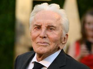 Actor Kirk Douglas arrives at the 2013 Vanity