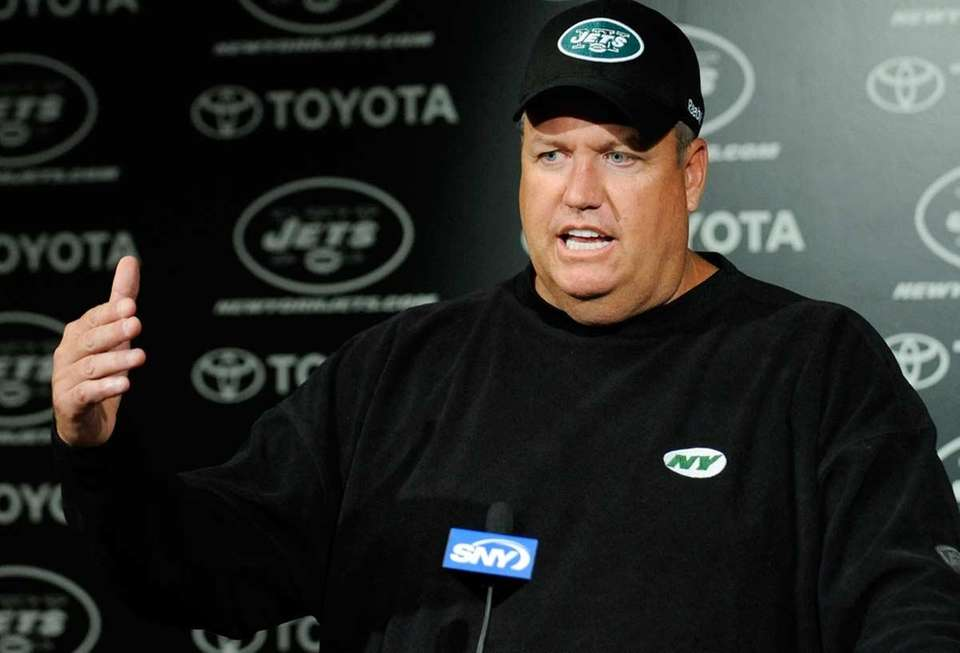 June 2009: Jets head coach Rex Ryan and