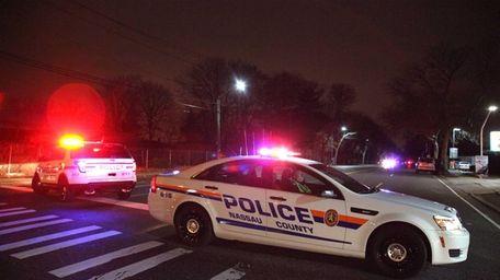 Nassau Police had Stewart Avenue shutdown as they