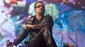 Bono performs at Glastonbury Music Festival in Glastonbury,