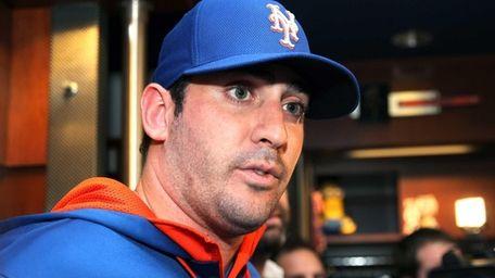 Mets ace Matt Harvey Speaks to media at