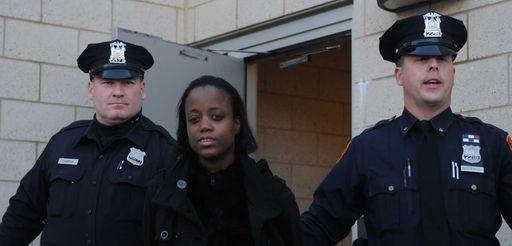 Nicole Noble, 34, of Brooklyn, a school day