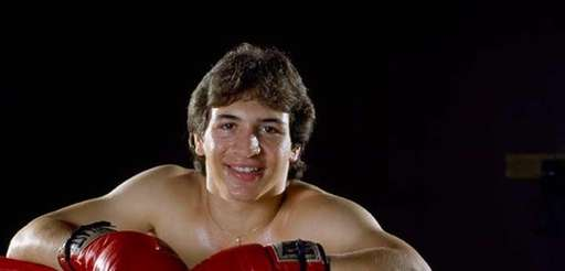 "Ray ""Boom Boom"" Mancini, lightweight boxer, poses for"