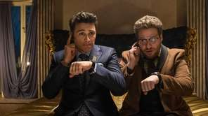 Dave (James Franco) and Aaron (Seth Rogen) in