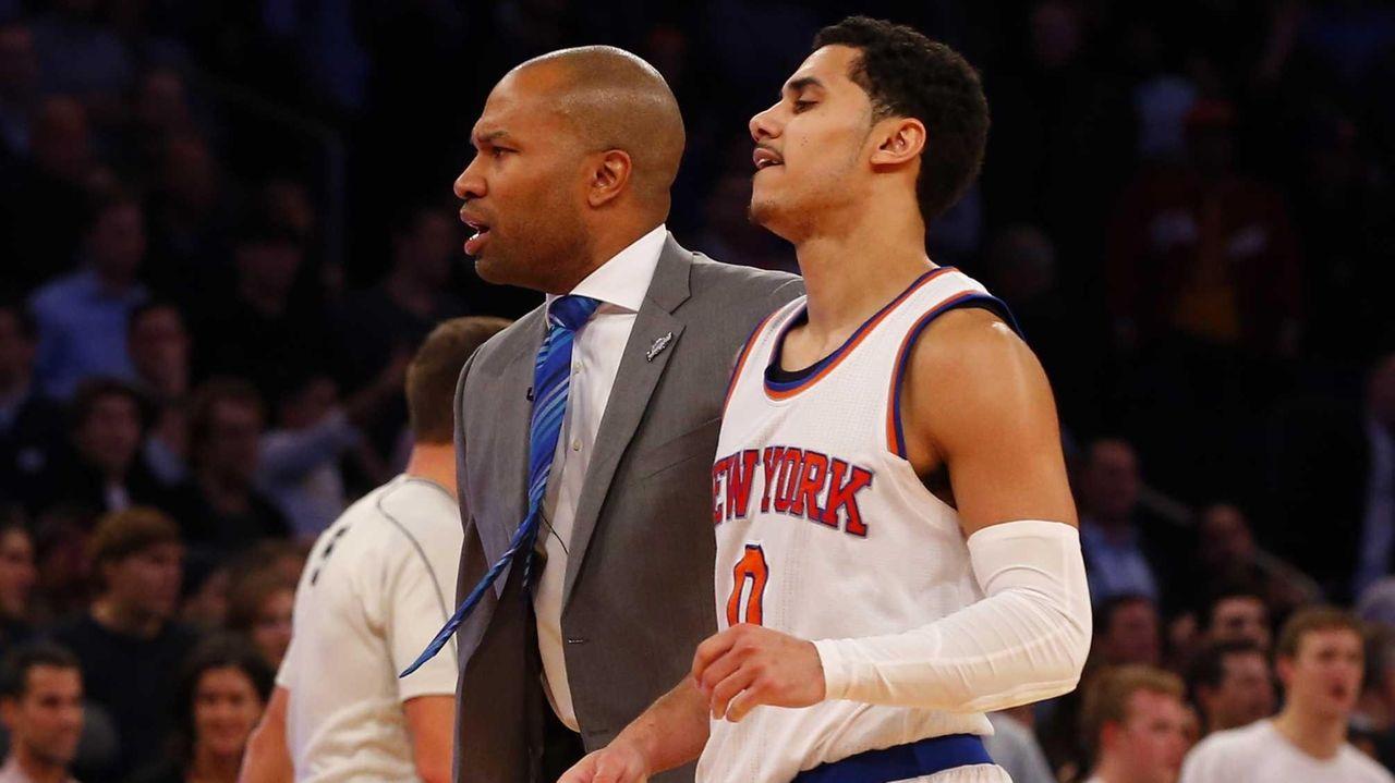 Head coach Derek Fisher of the New York