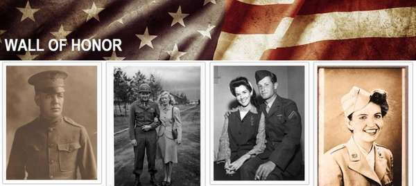 The online Wall of Honor allows family members