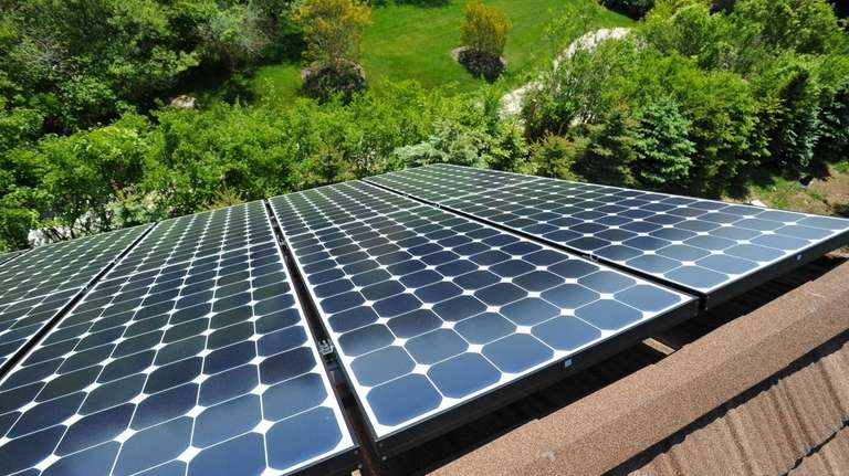 These solar cell panels are the roof of