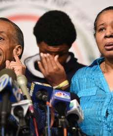 Al Sharpton with Esaw Garner, widow of Eric