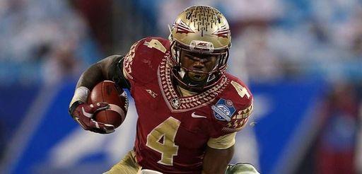 Dalvin Cook of the Florida State Seminoles runs