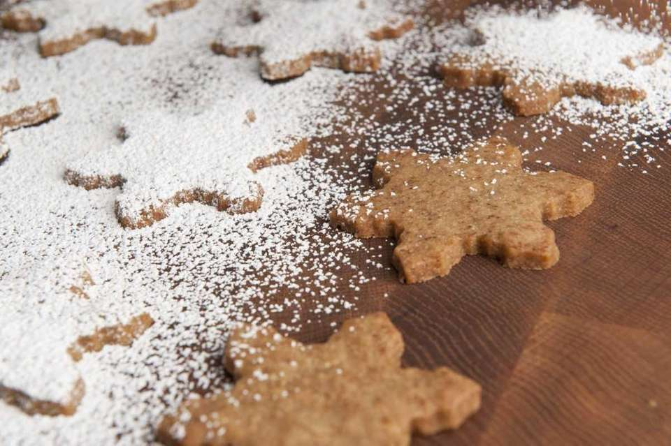Instant espresso powder gives these simple shortbread