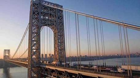 The George Washington Bridge is shown in this