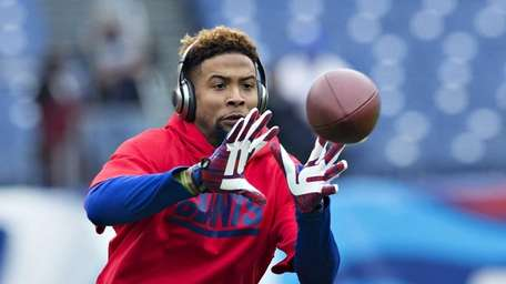Odell Beckham Jr. of the New York Giants