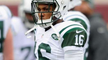 Percy Harvin of the New York Jets looks