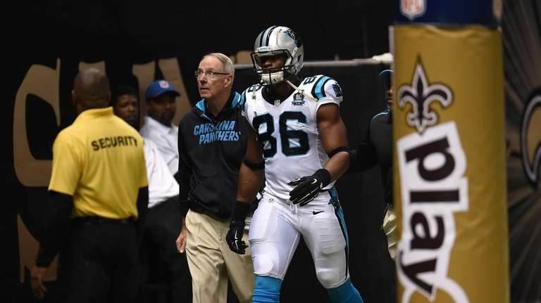 Brandon Williams the Carolina Panthers is ejected for