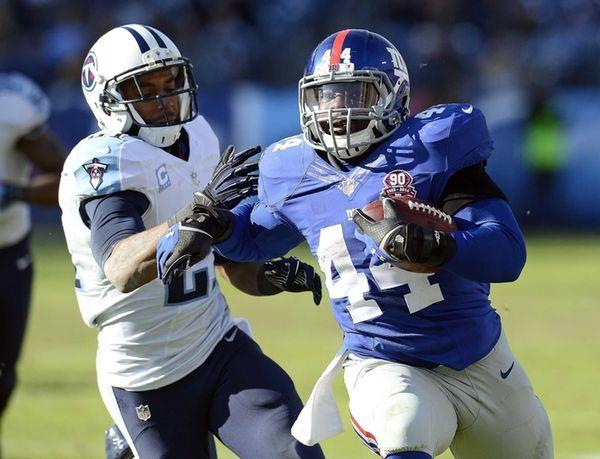 New York Giants running back Andre Williams (44)