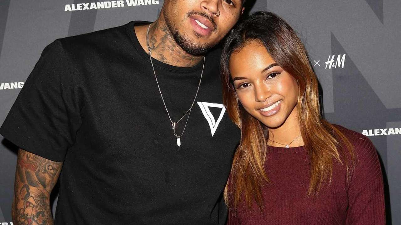 Singer Chris Brown and model Karrueche Tran attend