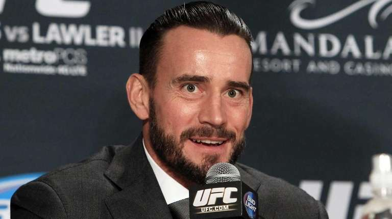 Former WWE professional wrestler CM Punk speaks at
