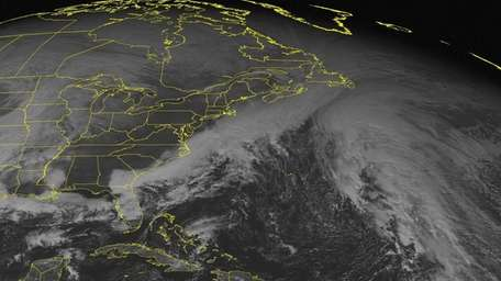 This NOAA satellite image taken Sunday, Dec. 7,
