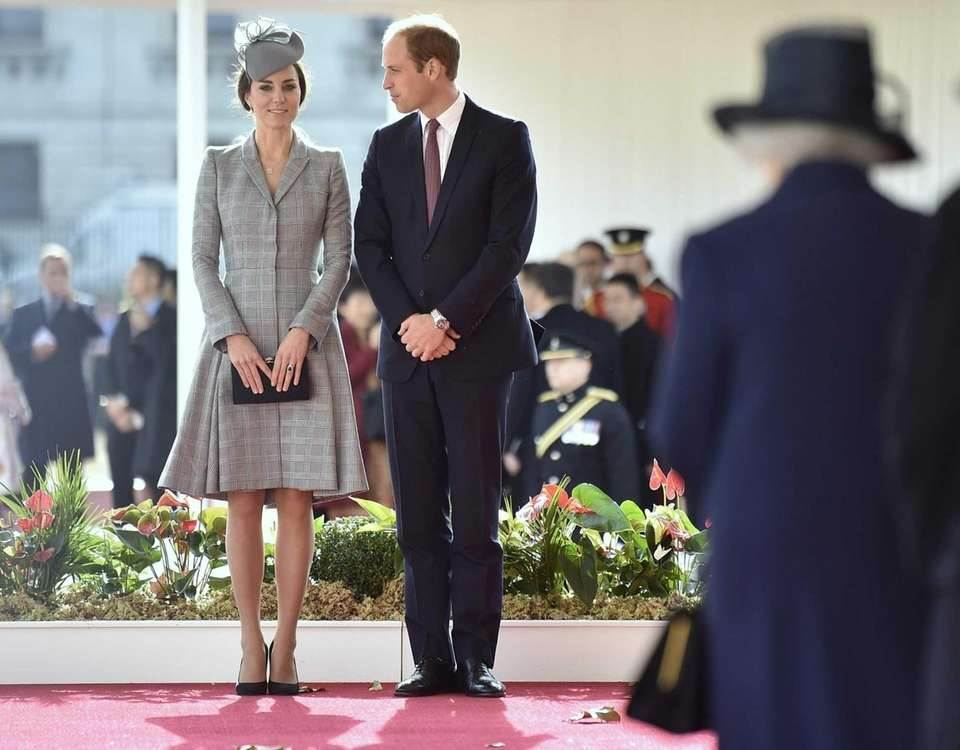 Britain's Catherine, Duchess of Cambridge and Prince William,